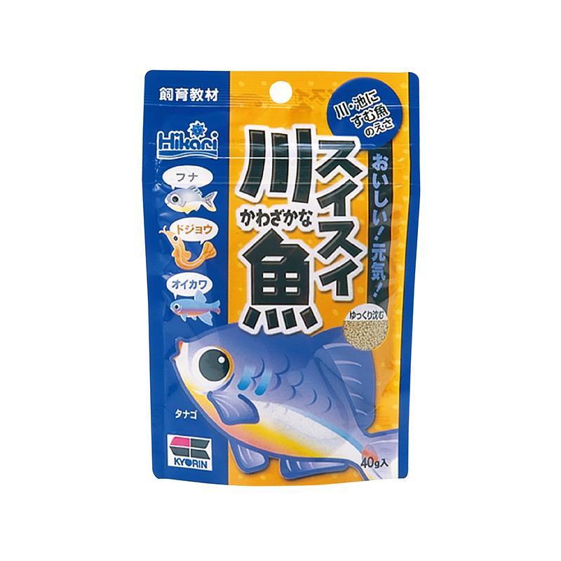 高夠力 (飼育教材)  小型魚 川魚飼料 40g